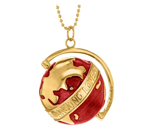globe large gold – red