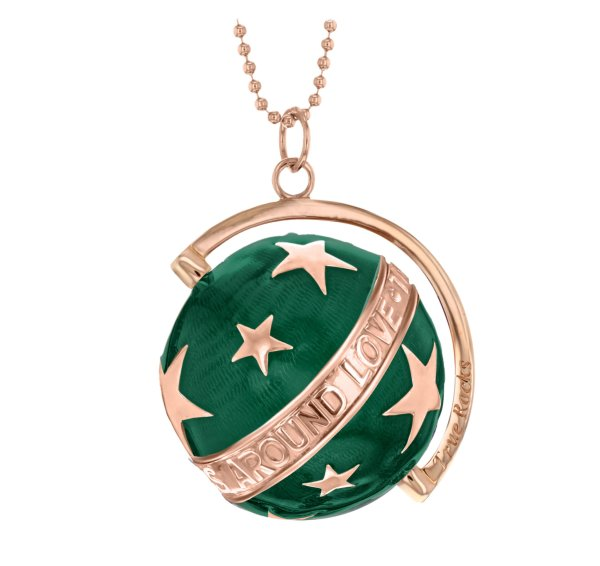 globe STARS large rose – green