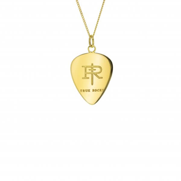 18kt Gold Plated Mini Plectrum Pendant