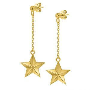 star-earrings-yellow