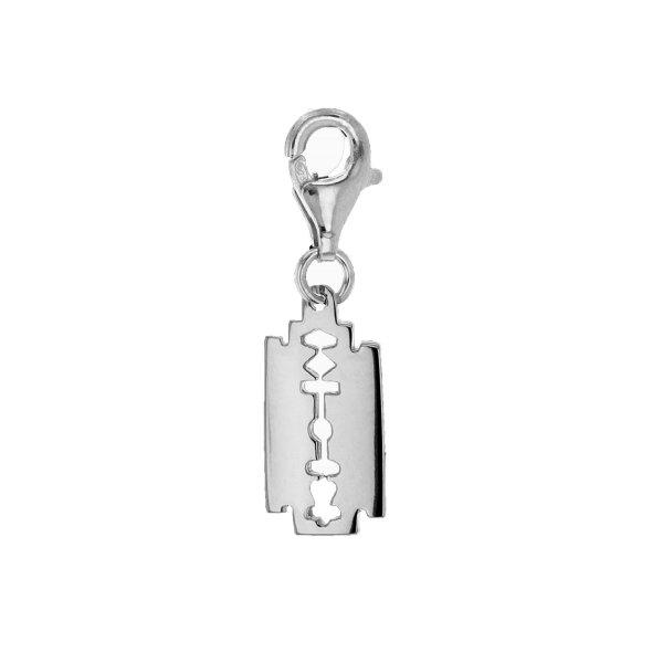 Mini-silver-razorblade-charm-white-1