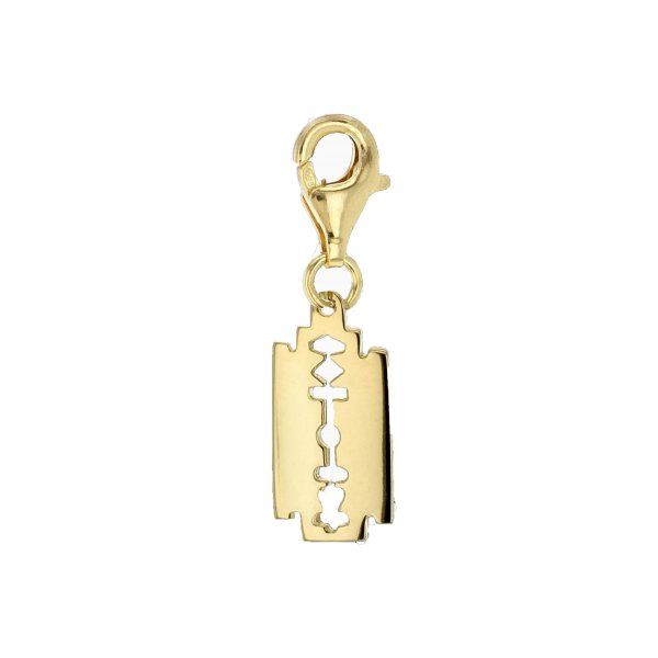 Mini-yellow-razorblade-charm-white-1