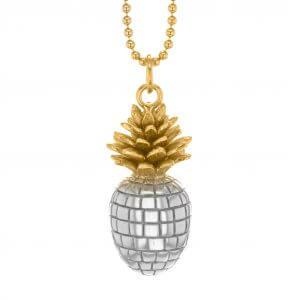 2 Tone Pineapple Pendants