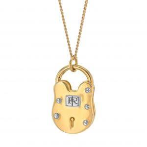 2 tone padlock Gold and Silver