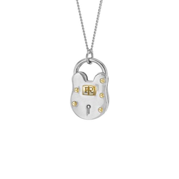 2-tone-padlock-silver-gold-mini-pendant