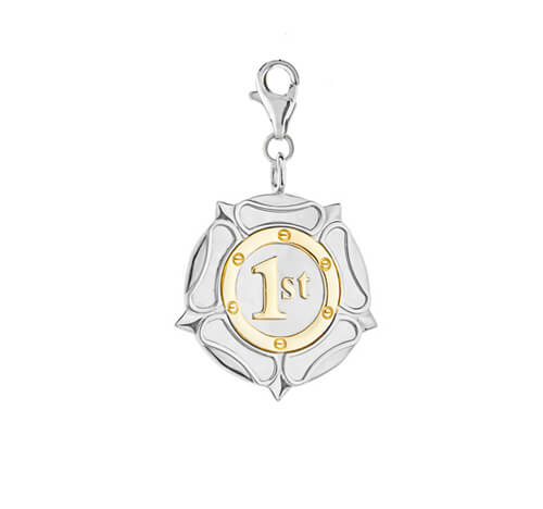 1st medal Large gold silver charm