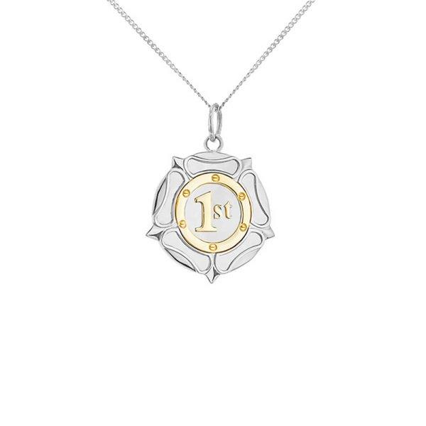 2-tone-rozette-silver-gold-mini-pendant