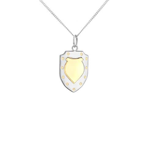 Shield silver gold fine