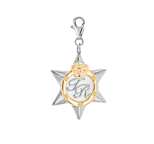 Star Medal Large Silver gold charm