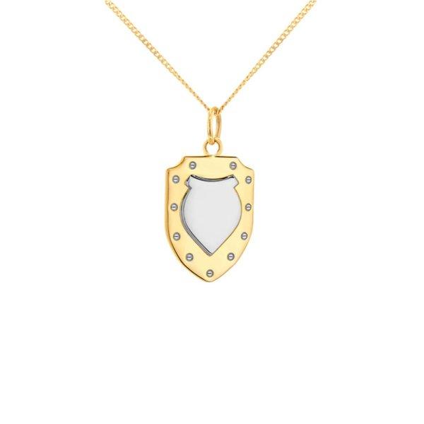2-tone-shield-gold-silver-mini-pendant