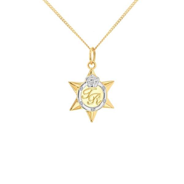 2-tone-star-medal-gold-silver-mini-pendant