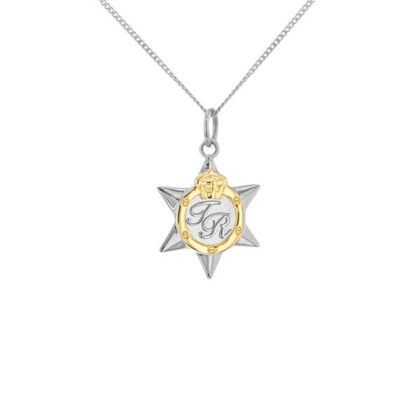 2-tone-star-medal-silver-gold-mini-pendant