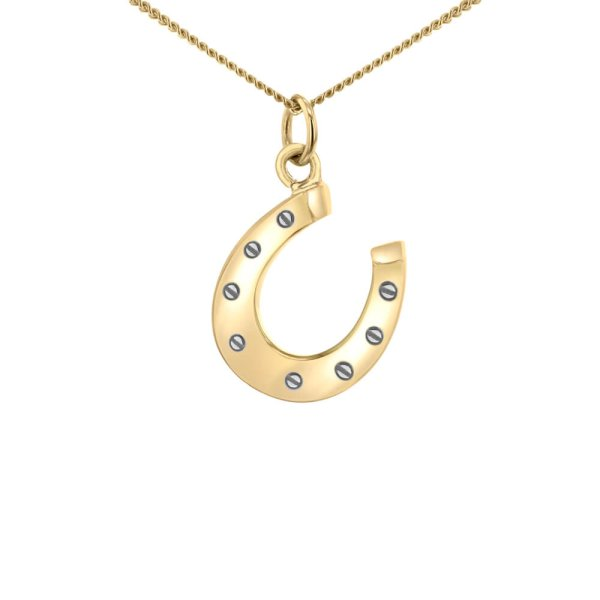 Horse-shoe-gold-silver-mini-pendant