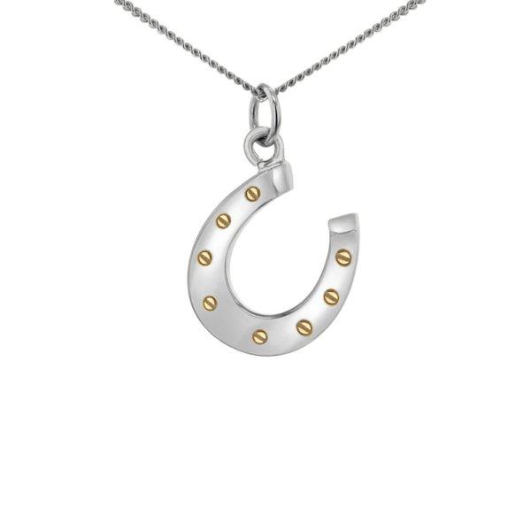 Horse-shoe-silver-gold-mini-pendant