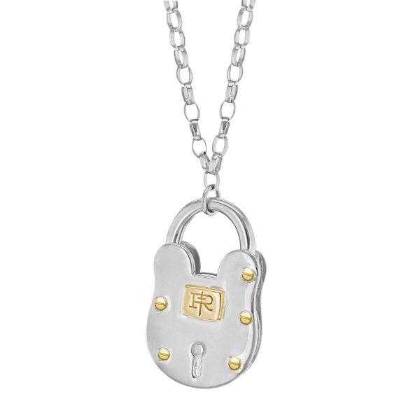 large padlock silver gold