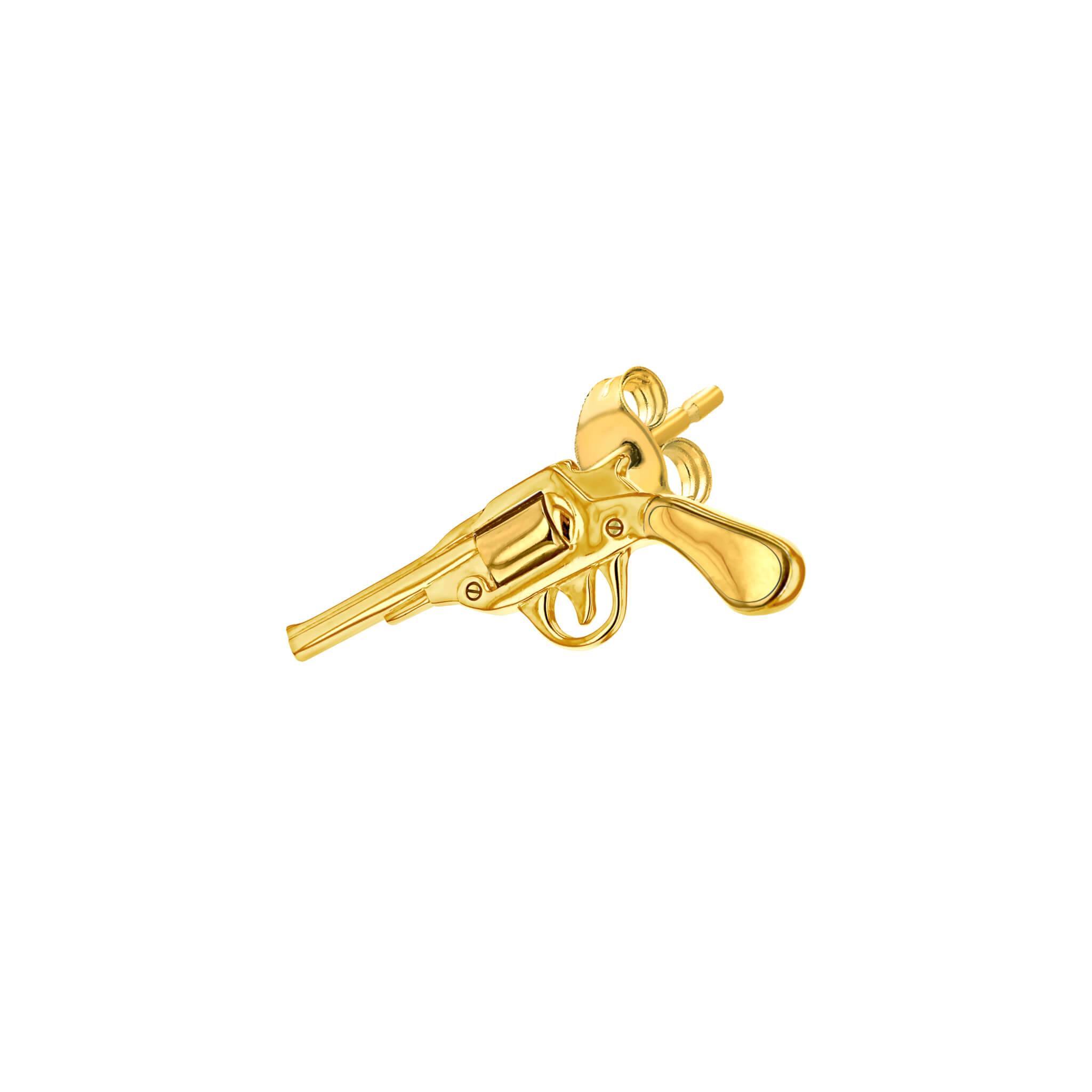 Stud Gold Pistol for left ear