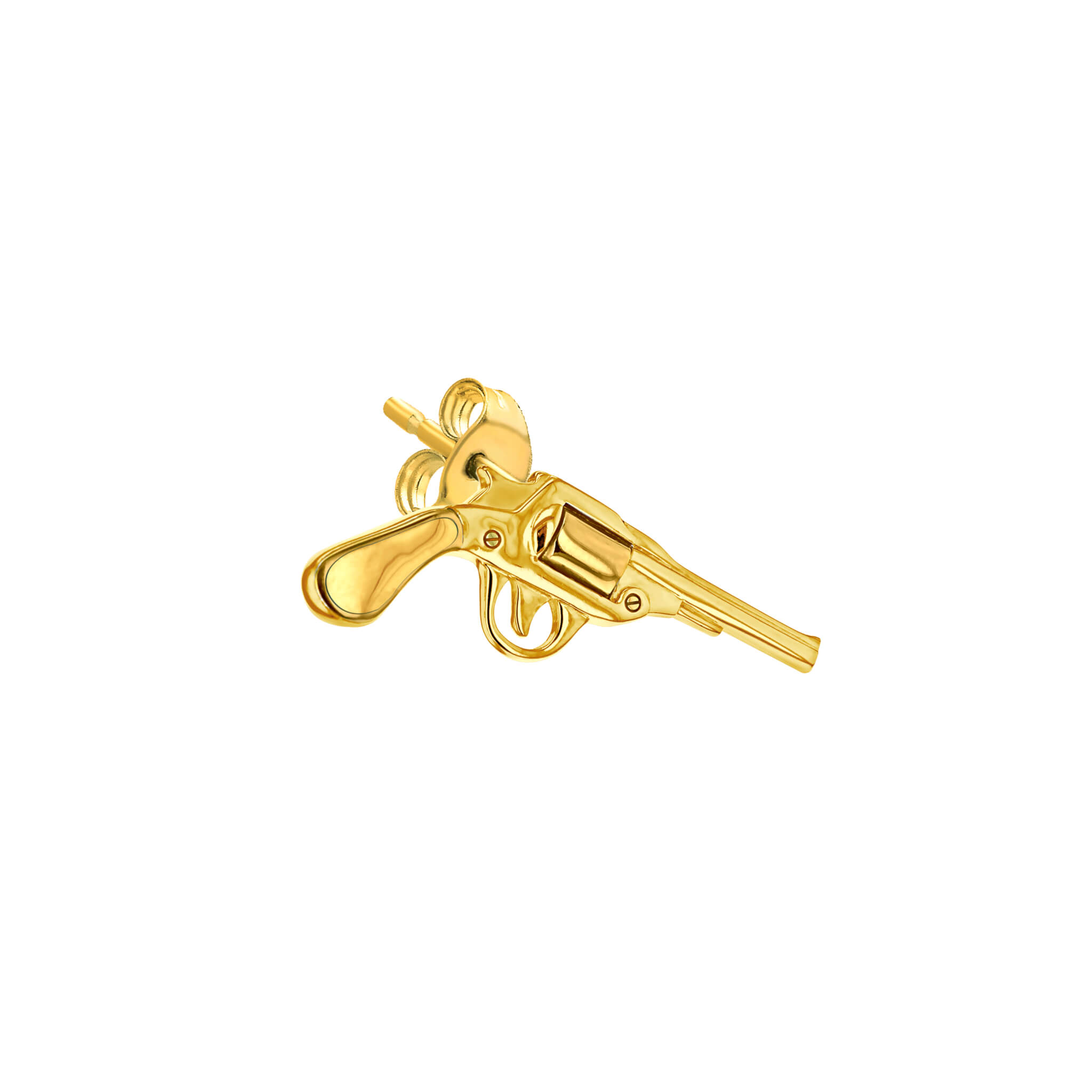 Stud Gold Pistol for right ear