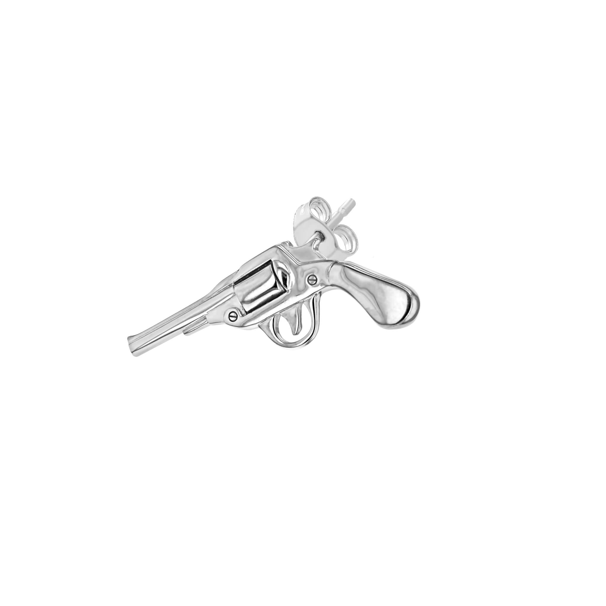 Stud Silver Pistol for Left ear