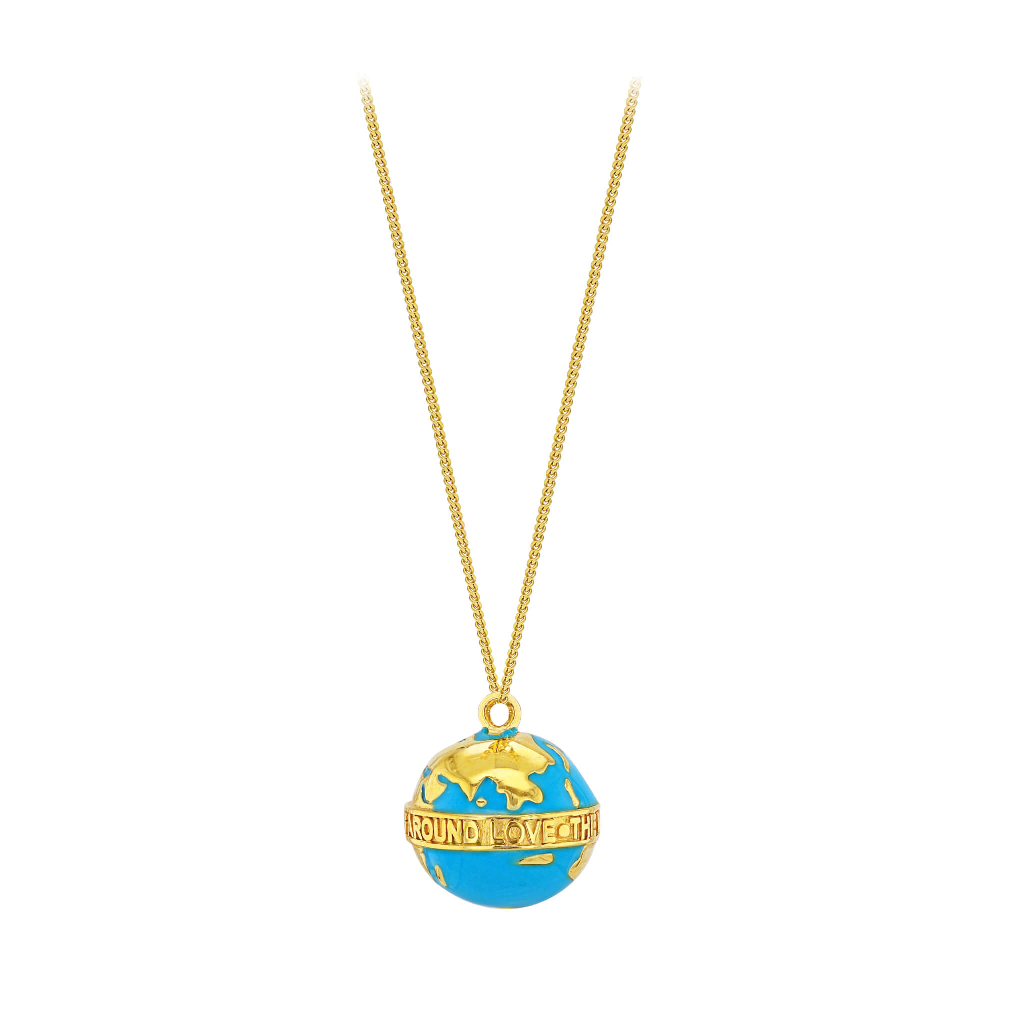 Turquoise Globe on Fine Chain