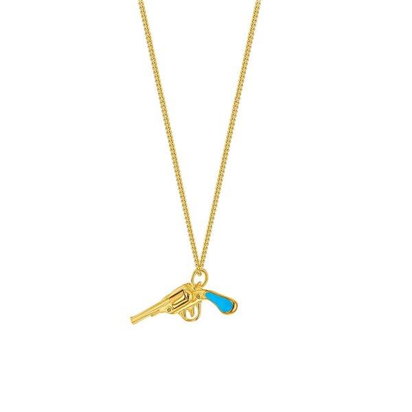 Turquoise-Gun-on-Fine-Gold-Chain_s
