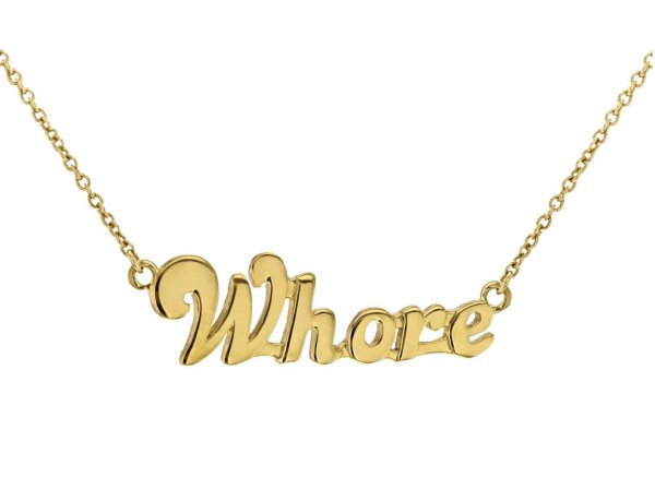 WHORE NECKLACE GOLD