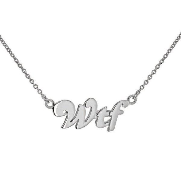 WTF necklace silver