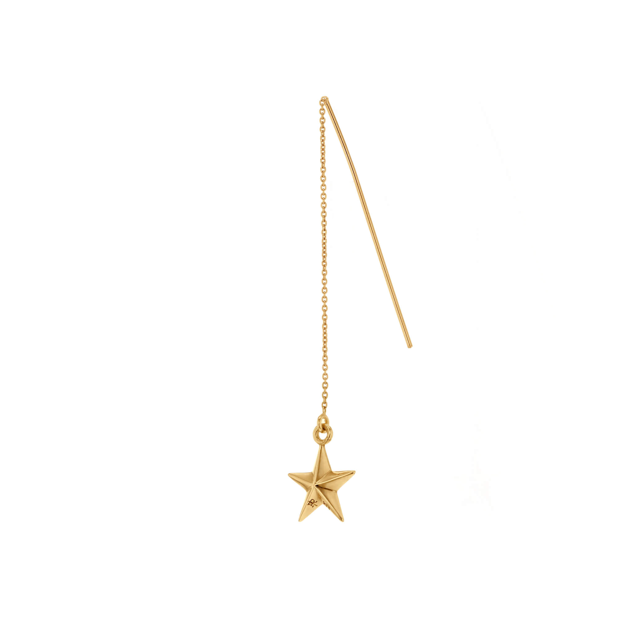 ZS Gold-Gold Single Mini Star Pull Through Earing