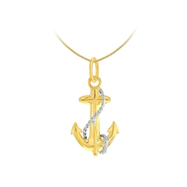gold shiny anchor
