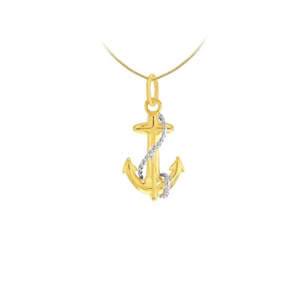 2 Tone 18kt Gold Plated & Sterling Silver Mini Pendant