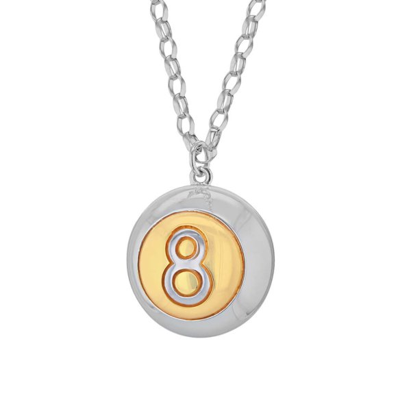 2-TONE-8-Ball-Silver-&-Gold-Large-Pendant-2