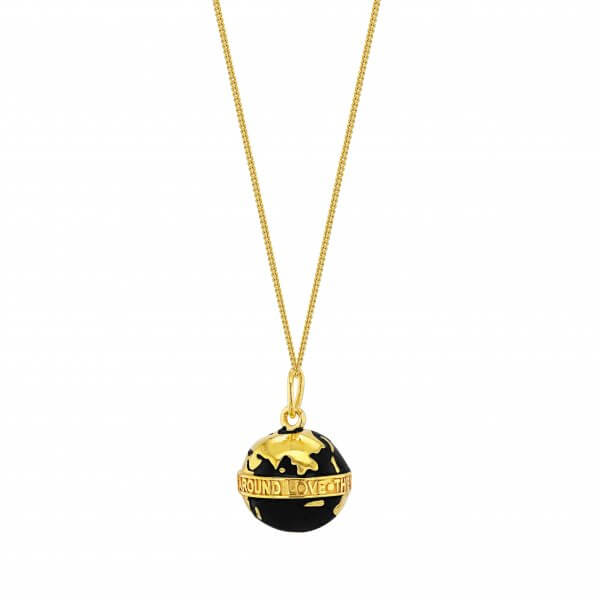 Black Globe on Fine Chain
