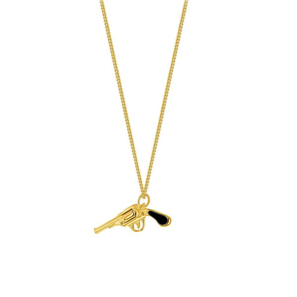 BlackEnamel_pistol-on-Fine-Gold-Chain