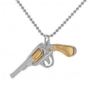 2-TONE-Silver-Gold-Pistol-_LG_Pendant