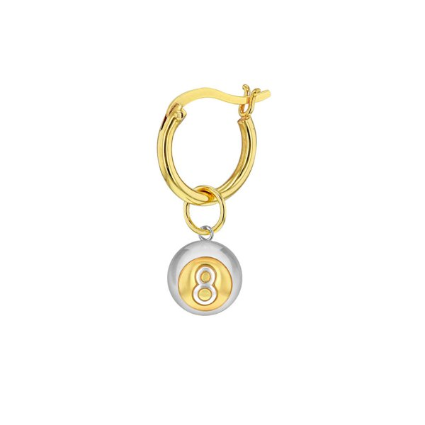 2tone_Gold-8-ball-Hoop-Earring