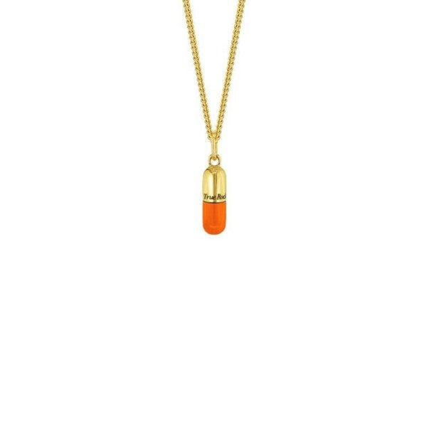Gold & Orange on Fine Chain