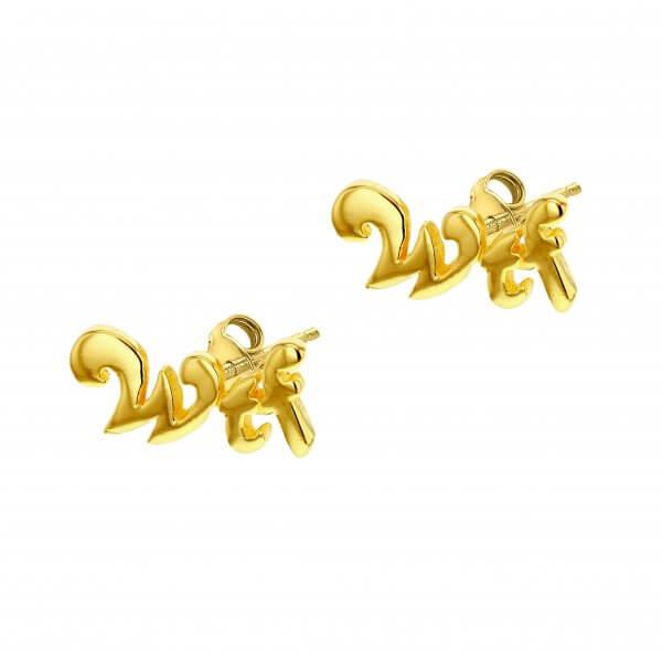 WTF Gold Earrings