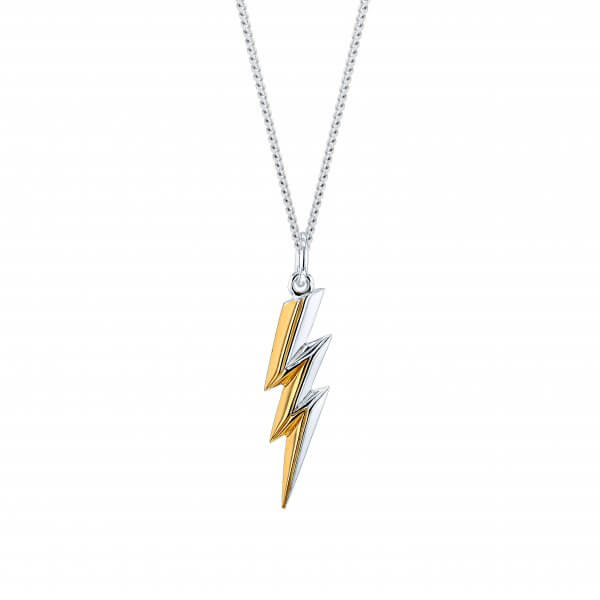 Mini 2-Tone Lighting Bolt Pendant